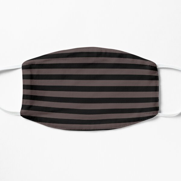 Black taupe color block stripe pattern    Mask