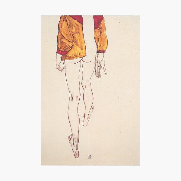 Mujer desnuda Egon Schiele Lámina fotográfica