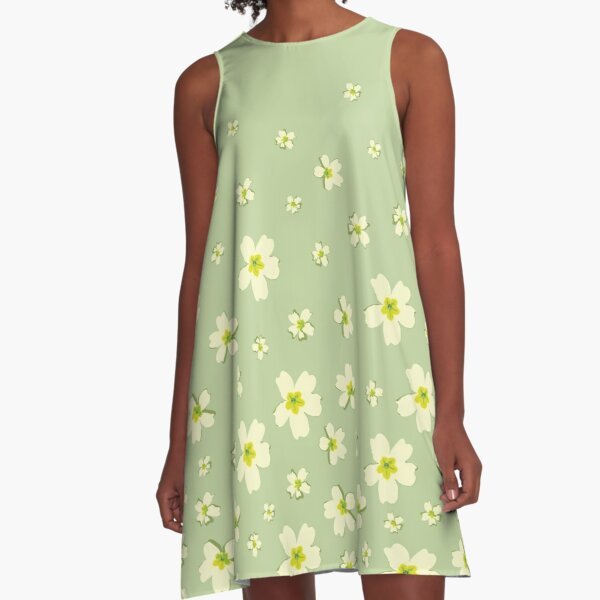 Portuguese Flowers - Green (variations) A-Line Dress