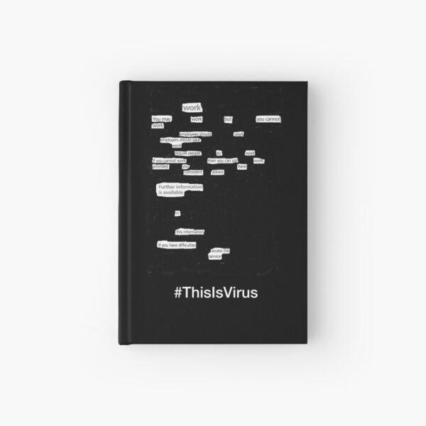 This is Virus: Work (Black background) Hardcover Journal