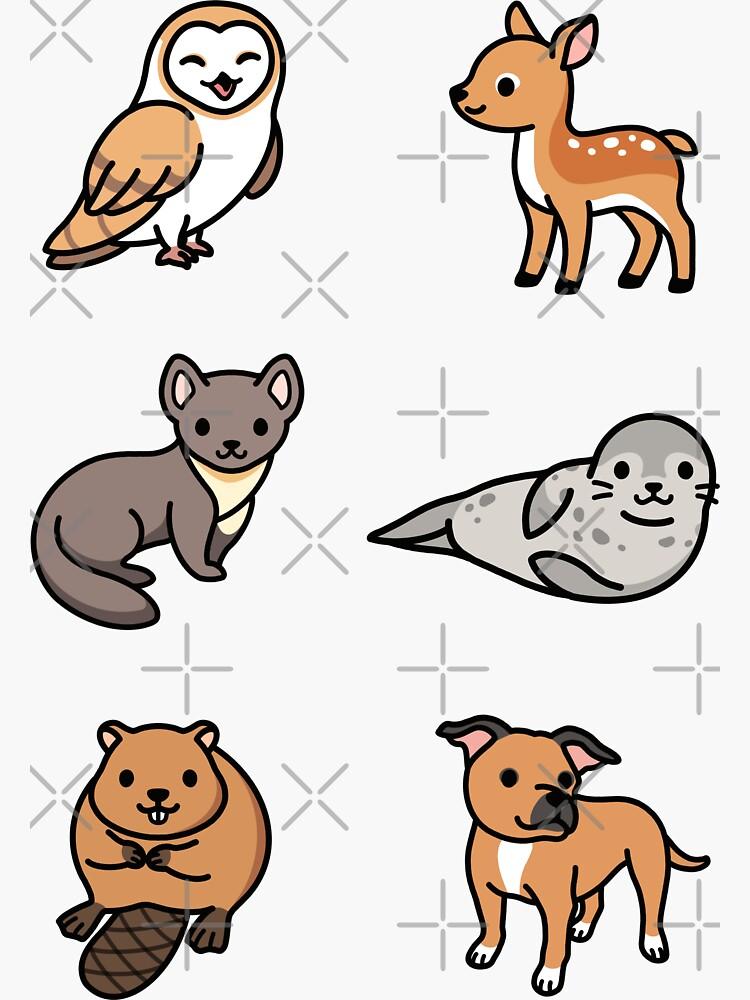 European Animal Sticker Pack  by littlemandyart