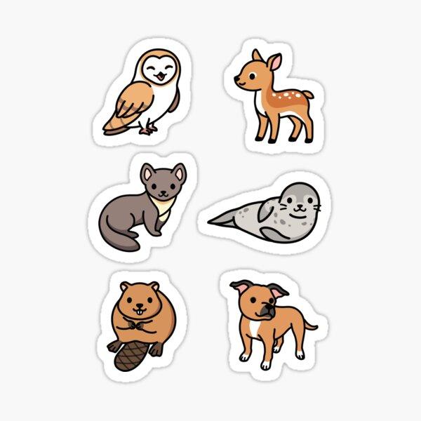 European Animal Sticker Pack  Sticker