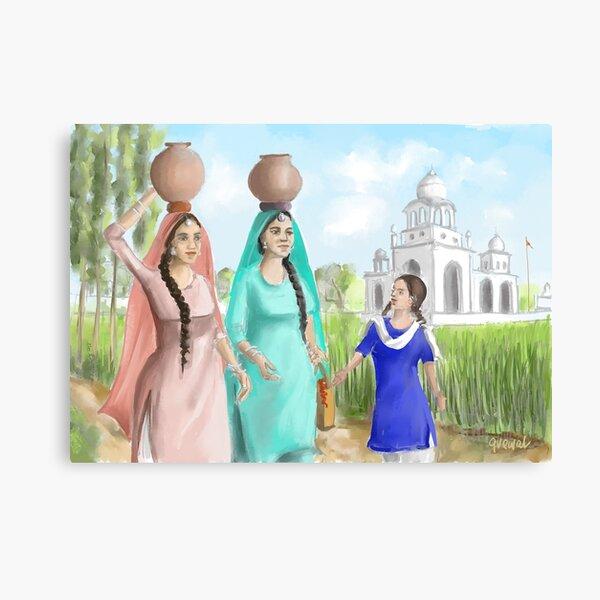 Punjabi Village Girls 4 Canvas Print