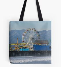 The Ferris Wheel At Pacific Park Tote Bag