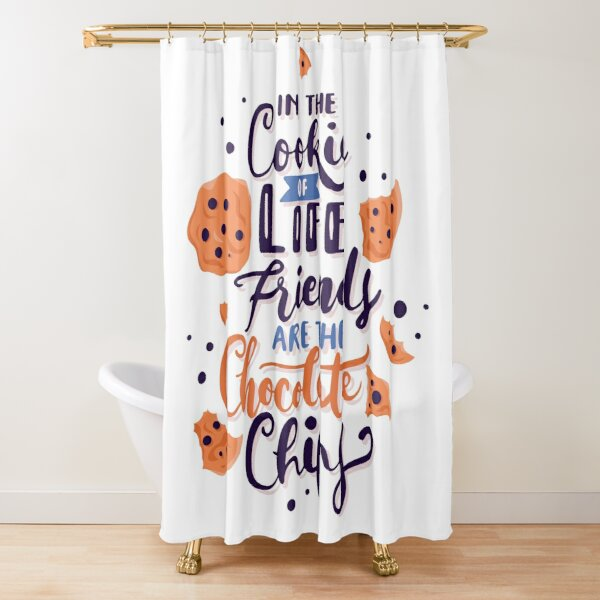 Top Fun Official Cookie Lover Taster, Inspirational Quotes Shower Curtain