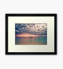 Altocumulous Clouds at Araha Beach Framed Print
