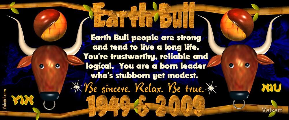 1949 2009 Chinese zodiac born as Earth Bull by Valxart