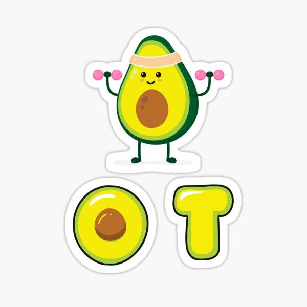 Cute Workout OT Avocado Sticker