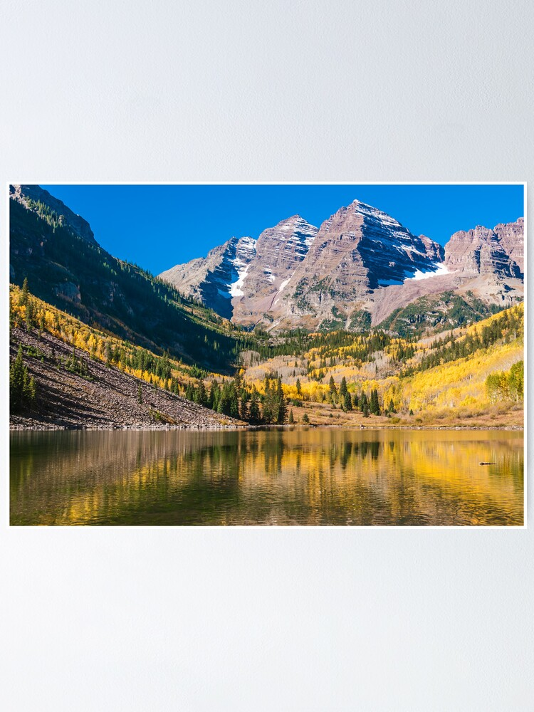 Alternate view of Colorado Maroon And Gold Poster