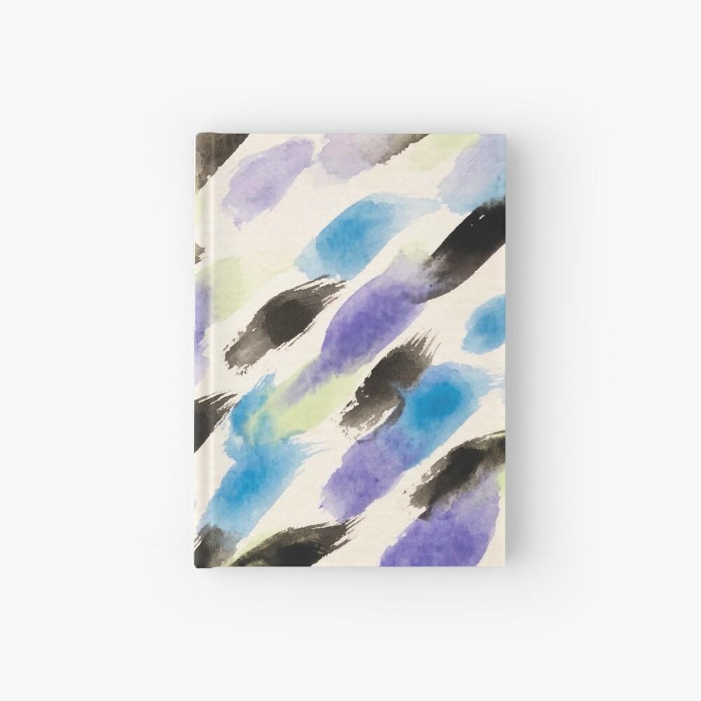 Rain Watercolor  - Abstract Art Hardcover Journal