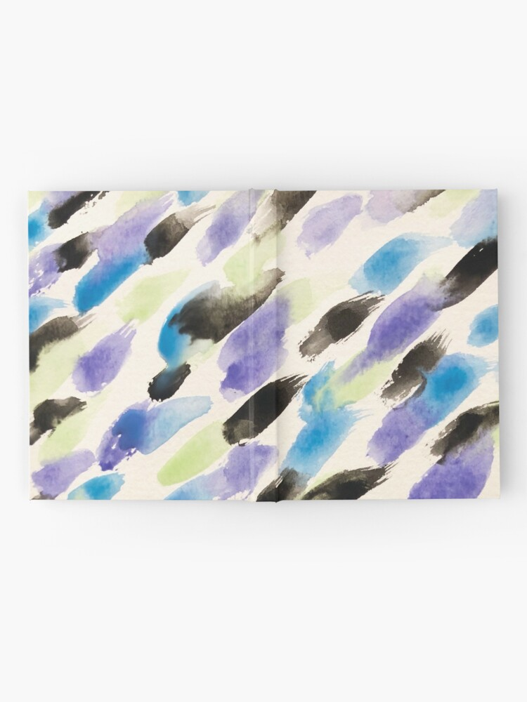 Alternate view of Rain Watercolor  - Abstract Art Hardcover Journal