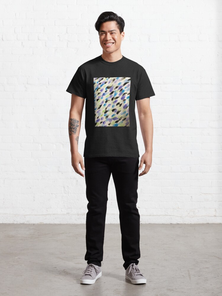 Alternate view of Rain Watercolor  - Abstract Art Classic T-Shirt