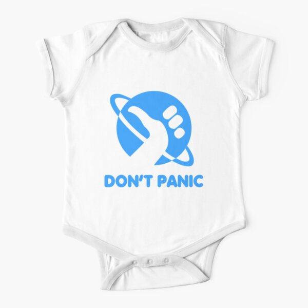 Don't Panic Short Sleeve Baby One-Piece