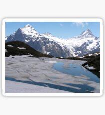 Bachalpesee with Fiescherhornen in the background, Switzerland Sticker