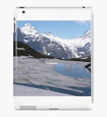Bachalpesee with Fiescherhornen in the background, Switzerland iPad Case/Skin