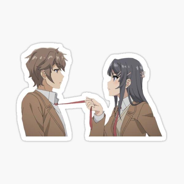Mai and Sakuta (Rascal Does Not Dream Of Bunny Girl Senpai) Sticker