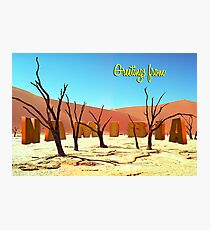 Greetings from Namibia Photographic Print