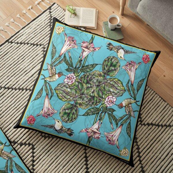 BIRDS & FLOWERS Floor Pillow