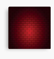 seamless pattern of Red brick wall Canvas Print