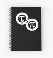 Tau vs Pi (dark) Spiral Notebook