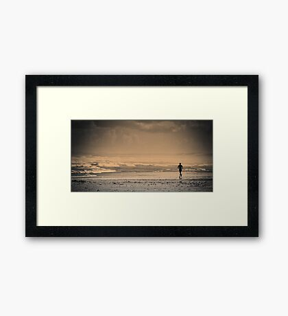 Lone runner Framed Print