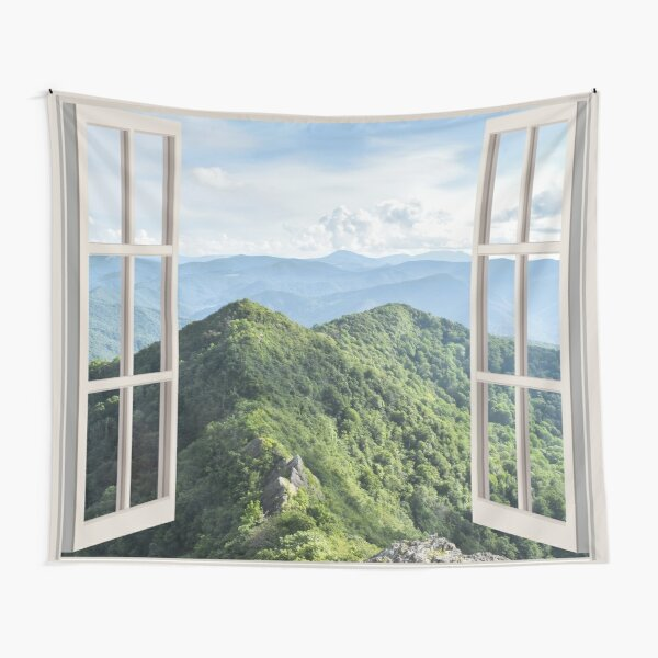 Appalachian Mountains Window Tapestry Tapestry