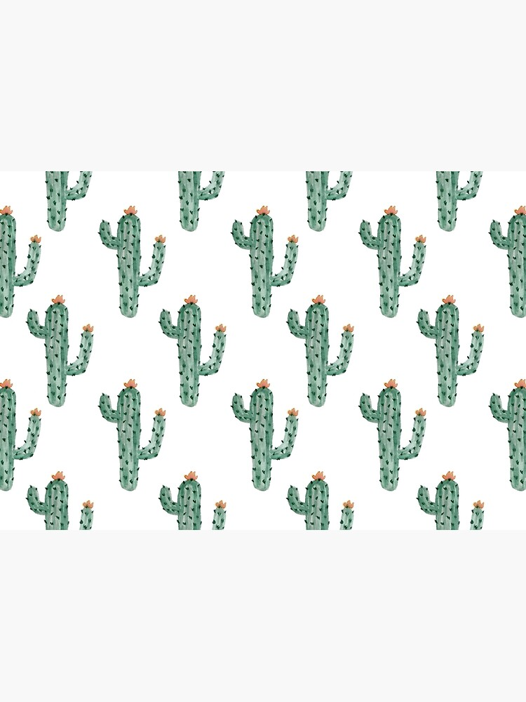 Watercolor Cactus Classic Pattern by JannGirl