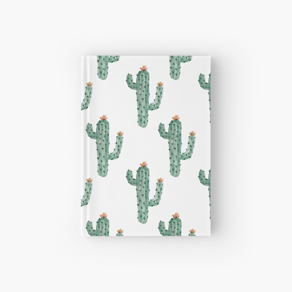 Watercolor Cactus Classic Pattern Hardcover Journal