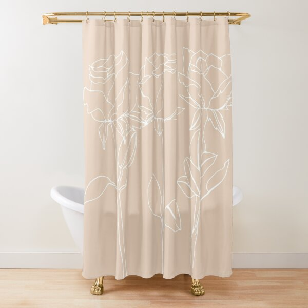 Rose June Birth Flower in Pink Shower Curtain