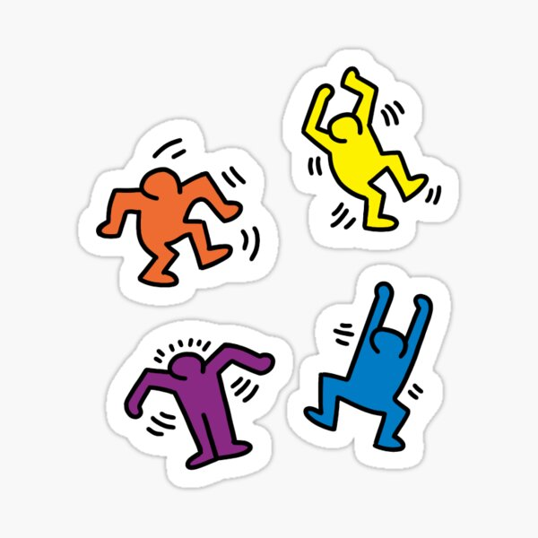 Keith Haring sticker pack Sticker