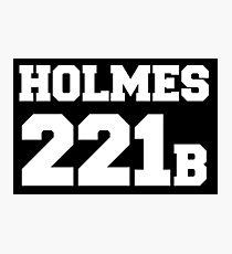 Sherlock - Team Holmes (white text) Photographic Print
