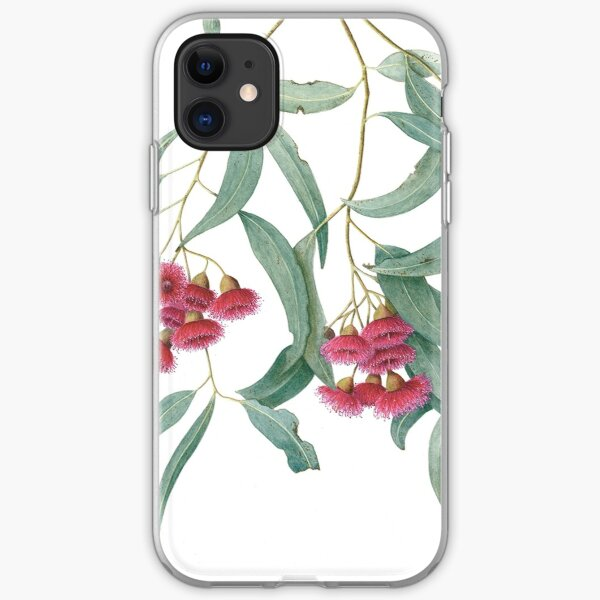 Eucalyptus leucoxylon - Yellow gum with Red Flowers iPhone Soft Case
