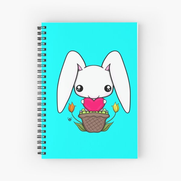 Love Bunny Spiral Notebook
