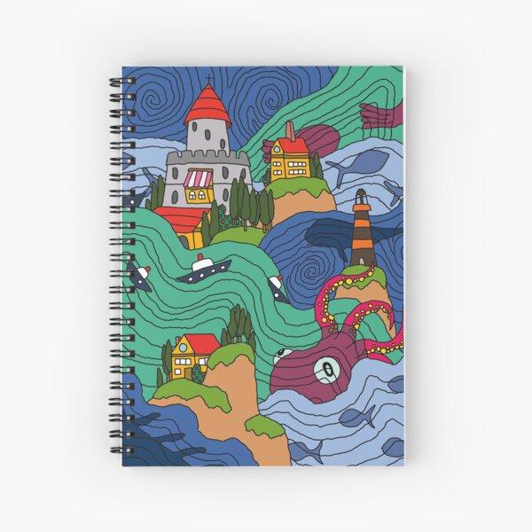 Ocean Mosaic Spiral Notebook