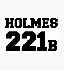 Sherlock - Team Holmes (black text) Photographic Print