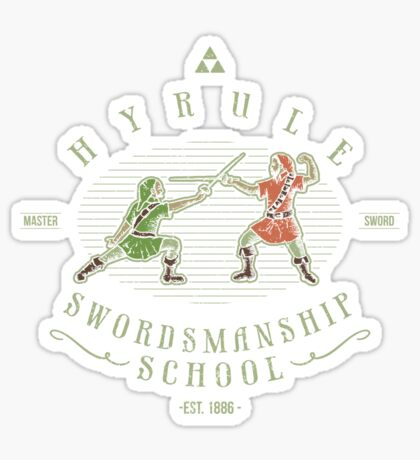 Hyrule Swordsmanship School Sticker