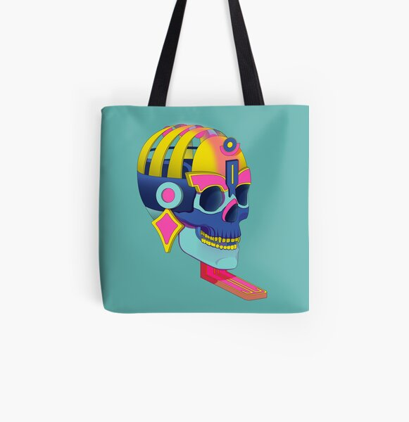 Prehispanic death god All Over Print Tote Bag