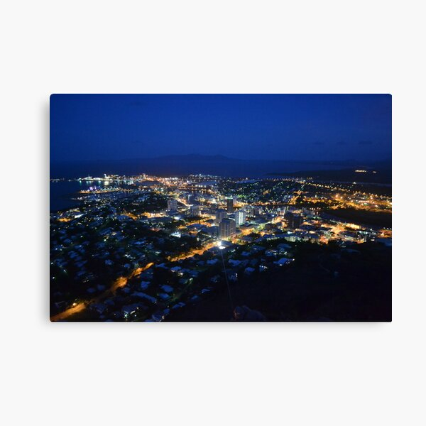 Townsville City At Night Canvas Print