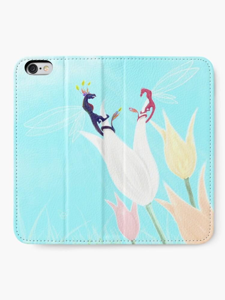 Alternate view of Dragonflies  iPhone Wallet