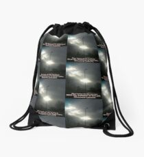 The Tears Of The Broken by Diamante Lavendar Drawstring Bag
