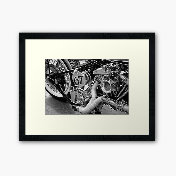 Straight out '67 - v-twin Framed Art Print