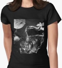 Cat reflection Womens Fitted T-Shirt