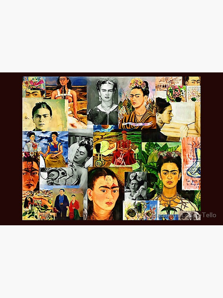 Frida collage by madalenalobaote