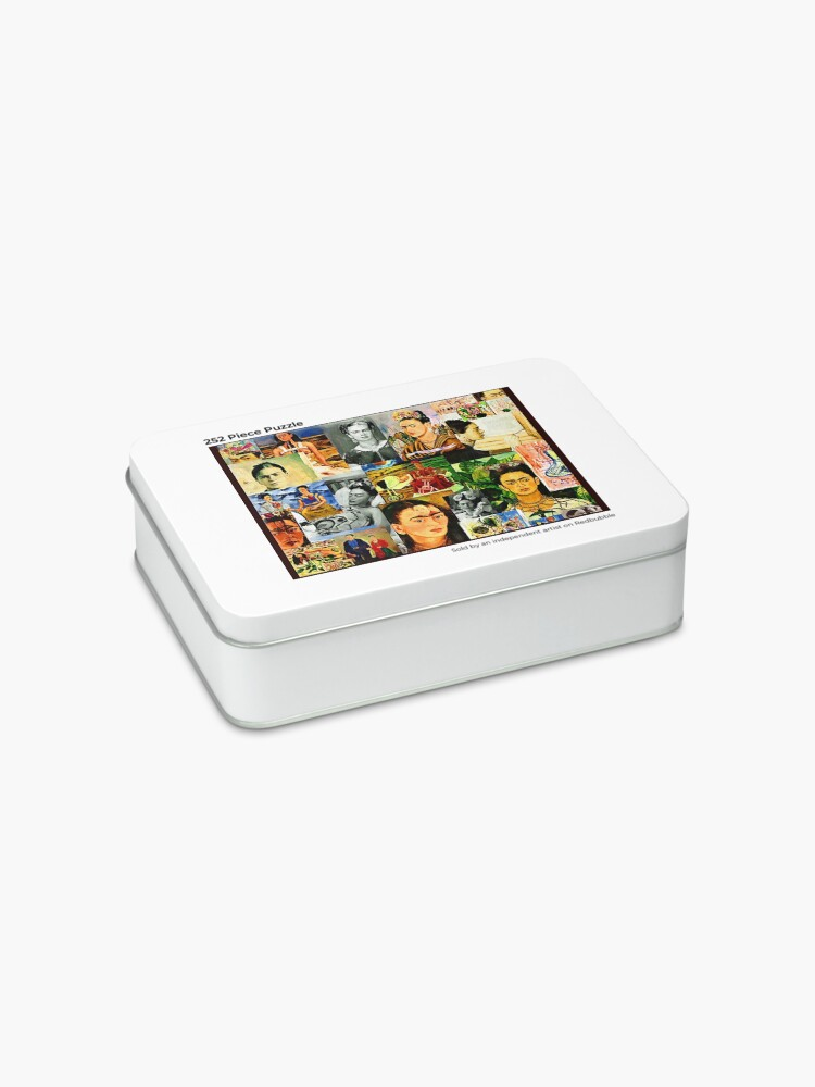 Alternate view of Frida collage Jigsaw Puzzle