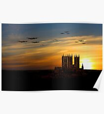 Bomber County Sunset Poster