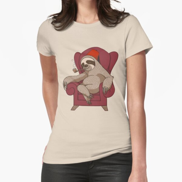 Sophisticated Sloth Fitted T-Shirt