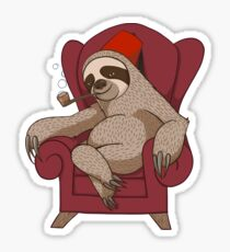 Sophisticated Sloth Sticker