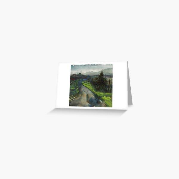 back road in alsea oregon Greeting Card