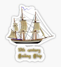 19th Century Sailing Ship T Shirt Sticker