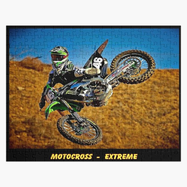 MOTOCROSS EXTREME: Motorcycle Racing Advertising Print Jigsaw Puzzle
